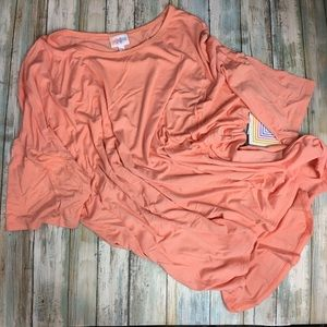 Peach LuLaRoe Irma tunic, 2XL